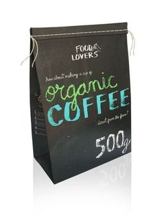 organic coffee - package design
