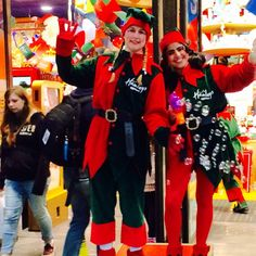 has officially arrived in now the elves have arrived Perfect Christmas Gifts, Christmas 2014, Christmas Lights, The Elf, Elves, Christmas Sweaters, Costumes, Street, Fashion
