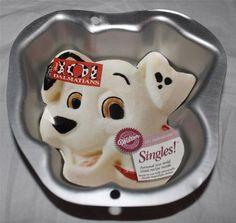 New Wilton Disney Singles Cake Pan Baby 1st Cake Mini Pan 101 Dalmatians Retired