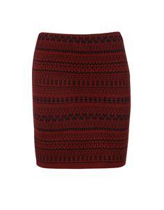Heart Print Knitted Skirt in Burgundy £ 14.95 #chiarafashion