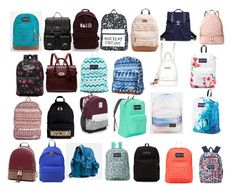 """""""backpacks"""" by emily15myers on Polyvore featuring Sole Society, Rip Curl, Proenza Schouler, MICHAEL Michael Kors, Vans, Mulberry, River Island, JanSport, Billabong and Moschino"""