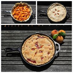 Amelia from Z Tasty Life made a peach pie in a cast iron skillet! How lovely!!