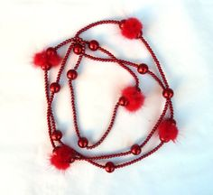 Long red necklacefur necklacehandmade by under25dollarshop on Etsy, $22.00