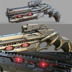 concept mech gun, Ajay Pandey on ArtStation at… Sci Fi Weapons, Weapon Concept Art, Weapons Guns, Fantasy Weapons, Arsenal, Rifles, Nerf Mod, Future Weapons, Cool Guns