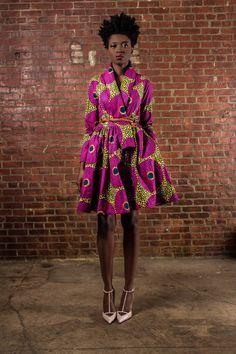 The Gugu Wrap Coat Dress