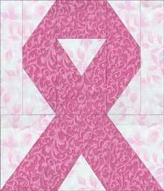 Awareness Ribbon Quilt Block Pattern-can be done in different colors for different cancers/diseases