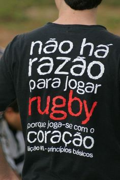 there isn't a reason to play rugby because you play with your heart. lesson #1-basic principles