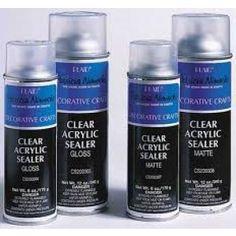 Clear Acrylic Sealer Aerosol Spray
