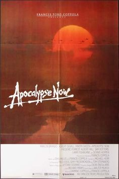 Buy an original vintage Apocalypse Now US One Sheet advance movie poster. Starring Marlon Brando,Martin Sheen,Dennis Hopper,Harrison Ford, and directed by Francis Ford Coppola 532 Old Movies, Vintage Movies, Great Movies, Vintage Posters, Awesome Movies, 70s Films, Apocalypse Now, Last Tango In Paris, Service Secret