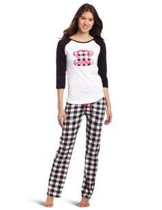 Amazon.com: Paul Frank Women's Just Julius Check Pajama Set, White/Black, X-Large: Clothing