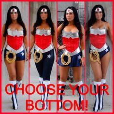 Your New 52 WW bottoms!  **Choose from: Panties, Skirt, Shorts or Pants. SPECIFY OPTION AT CHECK-OUT. WHAT DO I NEED FROM YOU?  1. Your