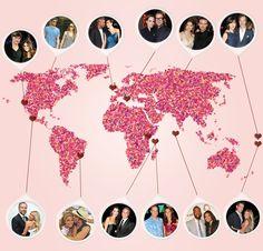 Where Stars Honeymooned, From Malta to Bora Bora—Check Out the Map!  Where Stars Honeymooned