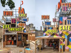Morag Myerscough, also author of the beautiful way finding installation at the Southbank last summer Agapé