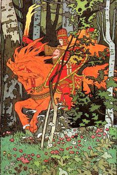 Ivan Bilibin - Imgur                                                                                                                                                                                 Mehr Ivan Bilibin, Russian Painting, Russian Folk, Russian Art, Beaux Arts, Folklore, Fairy Tales, Kay Nielsen, William Blake