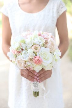 silk-bride-bouquet-white-cream-pale-pink-roses-and-peonies-shabby-chic-vintage-inspired-rustic-wedding-keepsake-bouquet.jpg 570×855 pixels