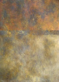 Venetian wall plaster with hints of metallics, purples, golds, tan, and more.