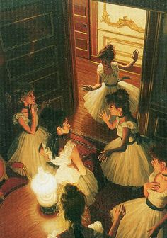 A painting of the ballerinas, based on the first chapter of the original novel.