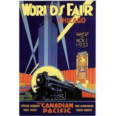 Trademark Fine Art Chicago World's Fair Canvas Art by Norman Fraser, Size: 18 x 24, Multicolor