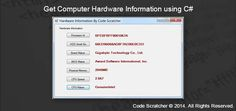 Get Computer Hardware Information using C