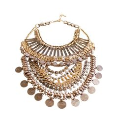 lana boho coin necklace