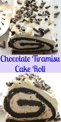 Chocolate Tiramisu Cake Roll, an easy roll cake recipe, a mocha cake, with a creamy eggless Tiramisu filling, the perfect Christmas or anytime dessert.|anitalianinmykitchen.com