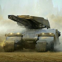 Love this futuristic tank design...