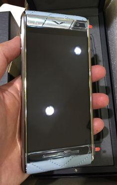Latest Luxury Vertu Aster Quilt Blue Leather Android Quad Processor Smartphone #vertu #Bar
