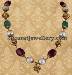 Nakshi Balls Emerald Beads Set - Jewellery Designs