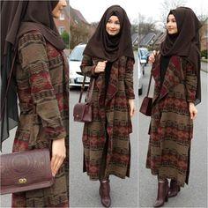 ❤️❤️Jacket / Jacke / Ceket - in der Boutique oder im Online Shop… Modest Fashion Hijab, Abaya Fashion, Islamic Fashion, Muslim Fashion, Hijab Dress, Hijab Outfit, Muslim Girls, Muslim Women, Trendy Fashion