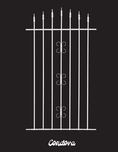 Screen Door Grille Cordova Style Handmade Decorative Protective Aluminum From The Old Florida Collection