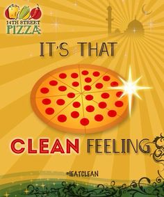 Its that clean feeling.. #14thStreetPizza #IEatClean   Dial 111-36-36-36 or visit http://www.14thstreetpizza.com/
