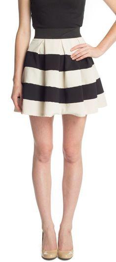 Striped Skirt A-Line Skirt