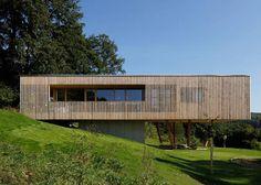 A Passive House is built on stilts