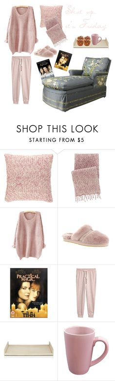 """""""Shut up, it's Friday"""" by marina-bencun ❤ liked on Polyvore featuring Pine Cone Hill, UGG, Caprice, Ginger Brown, Omniware, Pink and knitted"""