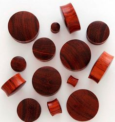 Red Tiger Wood Plugs and Gauges