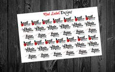 Hair Appiontment, Nail Appointment, Brow Appointment, Beauty Stickers, Hair Salon Stickers