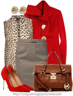 """""""Red & Leopard"""" by uniqueimage ❤ liked on Polyvore"""