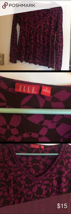 Elle Small Sweater $15 Magenta and Brown small Top $15 Elle Tops Blouses