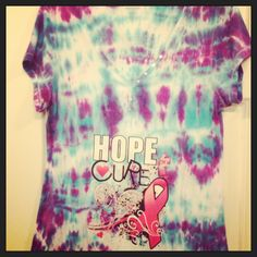 Thyroid cancer awareness, tie dye and iron on