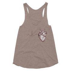 Anatomy Heart Racerback Tank (Women's)