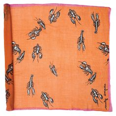 {Lightweight Lobster Shawl} Virginia Johnson - lobsters!! on a scarf!! this is oddly awesome.
