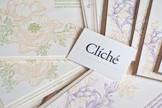 Letterpress spring postcards set by Tetiana Kartasheva, via Behance