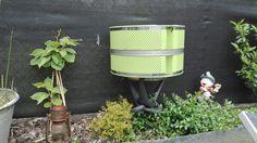 Oude wastrommel wordt tuinlamp