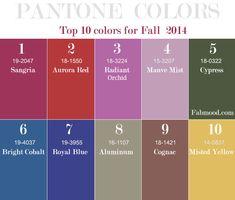 Pantone Fall 2014