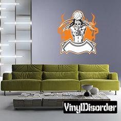 Volleyball Wall Decal - Vinyl Sticker - Car Sticker - Die Cut Sticker - SMcolor005