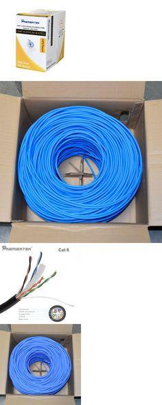 Cat5e CMP Plenum 1000ft Bulk UTP 350Mhz Network LAN Cable LSZH NEW Blue