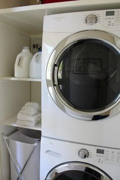 """Explore our web site for even more details on """"laundry room stackable washer and dryer"""". It is actually a great location to find out more. Laundry Room Shelves, Laundry Closet, Small Laundry Rooms, Laundry Storage, Laundry Room Organization, Laundry Room Design, Stackable Washer And Dryer, Stacked Washer Dryer, Küchen Design"""