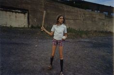 Mark Cohen, Girl with bat and ball, 1977