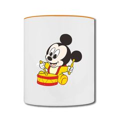 Mickey Mouse Play The Drums Two-tone Mug Store-Funny Accessories price as low as $5.99,Choose from tons of designs to customize your own t-shirts. Customized shirt make great gifts.