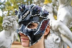 MADE TO ORDER  black purple mask mineral by ChimericalDragonfly
